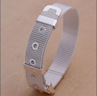 Wholesale High quality MM inches silver strap bangles fashion bracelet