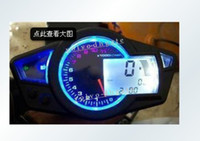 Wholesale LCD digital Odometer Speedometer Tachometer Motorcycle w Backlight