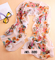 Wholesale Lady s scarf Women s Print Soft Silk muffler Female Bandelet Neckerchief Tippet Shawl Wraps Mixstyle