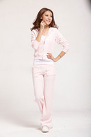 Wholesale Whole Sale Hot fashion Sweat Suit Women s Tracksuits Light Pink Velour Cotton New Sale