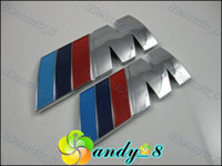 Wholesale 250pcs For M M Tech Power Expoy ABS D Sticker Car Badge Badges Emblem Emblems M Logo Glue New