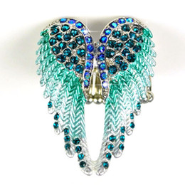 New popular colorful angel wing rings womern with rhinestones stretchable size fashion jewelry wings ring for women ,RN-618