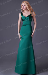 Wholesale Grace Karin New Fashion Spaghetti Strap Prom Dresses Emerald Green Formal Party Gown Evening Dress CL3463
