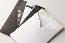Wholesale Hot Sale Bride Dress Groom Tuxedo Wedding Invitation Cards Sample