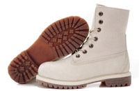 White Lady Designer Boots Work Boot Cowhide Leather AAAA New...