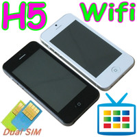 Wholesale H5 WIFI TV quot Touch screen Dual Sim card Camera Unlocked Cell Phone Mobile F8 I5