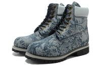 Men Designer Boots Work Boot Cowhide Leather Blue AAAA New A...
