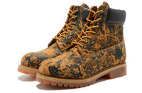 Men Designer Boots Work Boot Cowhide Leather Yellow AAAA New...