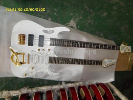 Free shipping 2012 CHINA CUSTOMIZE GUITAR&BASS Double Neck white body 10 strings 08 30