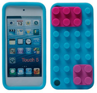 Wholesale 50pcs Soft Building Block Silicone Case Cover for ipod touch th