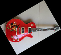 Wholesale Custon shop slash Snake inlay fret board red electric guitar made in china guitar