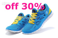 Wholesale Sportshoes2012 Men s Free run Soft Sports Shoes Breathe Freely Elastic Blue Nets Canvas Shoes women Running Shoes Drop shipping mix order