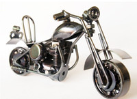 Wholesale Xmas Gift fashion boy Toys small silver metal motorcycle iron crafts Christmas gifts