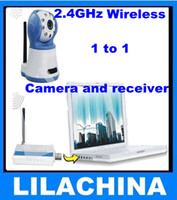 Wholesale 2 G Wireless night vision Mini camera and USB wireless receiver Kit m Transmission free shippin