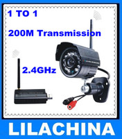 Wholesale 2 ghz Wireless Security Camera and receiver kit with night vision and m transmission free shippi