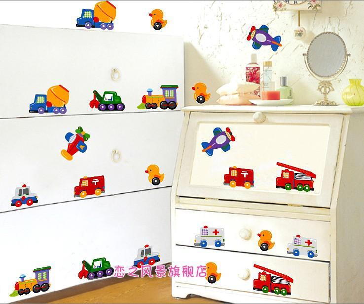 Car Cartoon Wall Stickers Children S Room Boy Nursery Part 11