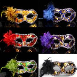 Luxury Masquerade Mask Flower aside carnival wedding prop Half Face Halloween mardi gras costume novelty gift EMS free shipping