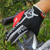 Wholesale Cycling Bike Bicycle Sports FULL Finger Gloves red
