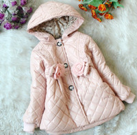 Wholesale 3pcs pink Children Girls baby clothes winter autumn coat cotton wear thick kids clothing J1