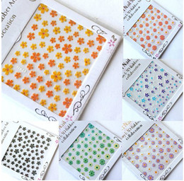 Wholesale Fashion nail art sticker Stereo sticker Dry flower series Nail polish applique miexd colors