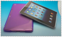 Wholesale Apple Ipad Mini S Line Half Matte Half Smooth TPU Protector Hard Back Case Cover Retail