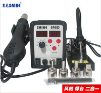 Cheap Thermostatic Hot Air Gun Hot air station 2 in 1 Soldering Station Thermostat Soldering Iron