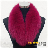 Wholesale Winter Warm Real Fox Fur Collar Women s Neck Warmers Fur Scarf Shawl For Coat colors Mix