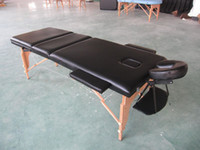 Wholesale 3 Section quot Black PU Portable Massage amp Tattoo Table Bed with Carry Case
