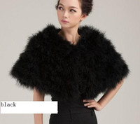 Wholesale True ostrich hair fire feather feather shawl small coat fur coat black