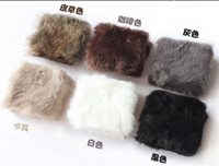 Wholesale 12 pair Fashion Women Girls Ladies Rabbit Fur Hand Wrist Warmer Winter Fingerless Gloves
