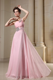 Wholesale Hot Sale wedding dress s Prom Dresses Beading One shoulder Celebrity Dresses