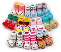 Wholesale 3D Baby socks baby footgear lovely D animal pattern head Anti Slip booties many patterns colours