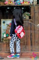 Wholesale children Backpacks Animal ladybug Multi function cartoon package shoulder D616F