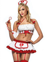 Wholesale Retail Sexy Lingerie uniform Naughty Nurse Cosplay Costume ONE SET DT1002