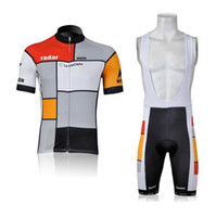 Wholesale LOOK Grid gray Cycling Jersey and Bib Shorts Set Cycling Wear Clothing High quality