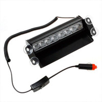 Wholesale 8 LED Emergency Vehicle Warning Strobe Flash Light Red Blue