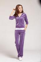 Women Long Sleeve Regular Whole Sale Hot fashion Sweat-Suit,Women's Tracksuits in purple,Velour Cotton,New Sale-1003