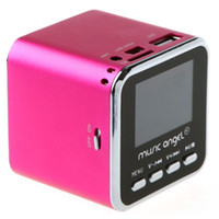 Wholesale DHL FEDEX Freeshipping Digital Portable Mini Speaker MP3 Player USB Disk Micro SD TF Card FM Radio sound box