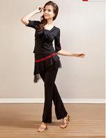 Women authentic clothing - Latin Dance Latin Dance Leotard Adult clothing square dance costume suit new authentic