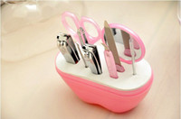 Wholesale Hot Sale Manicure Set Grooming Kit Nail Clipper set for Men Lady Girl apple style