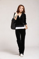 Wholesale Whole Sale Hot fashion Sweat Suit Women s Tracksuits Black Velour Cotton New Sale