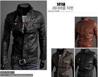 leather coat men - Fashion Men Outerwear Coats Mens Designer Jacket autumn and winter standing collar Mens motorcycle Leather jackets men leather jacket Coat