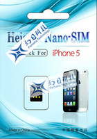 Wholesale thin heicard nano sim adapter for iphone fast signal super stable Hot selling HK