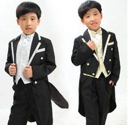 Wholesale 2012 latest dress coat children s suit for boy tailcoat wedding perform essential tails sets