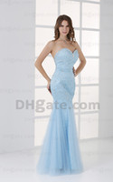 Actual Images prom dresses 2012 - 2012 Prom Dresses New Fashion Tulle Beading Crystals Mermaid Evening Dresses DH00308