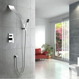 Wholesale Waterfall Newly Bathroom Multi ply Valve Water Spout Shower Faucet Set MMD