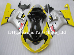 Yellow ABS racing fairing for 2001 2002 2003 SUZUKI K1 GSXR 600 750 01 02 03 GSXR600 GSX R750 R600