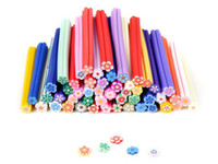 Wholesale 50pcs Nail Art Fimo Canes Rods Polymer Stick DIY D Stickers Tips Decoration F198A