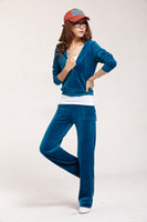 Women Long Sleeve Regular Hot fashion pure color Sweat-Suit for Femail,Women's Tracksuits in Navy, Women's Velvet suit