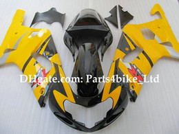 Custom yellow racing fairing K1 2001 2002 2003 SUZUKI GSXR 600 750 GSXR600 GSX-R750 R600 01 02 03